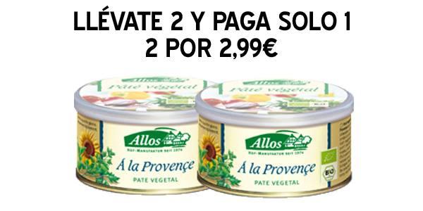 Paté vegetal con hierbas provenzales 2×1