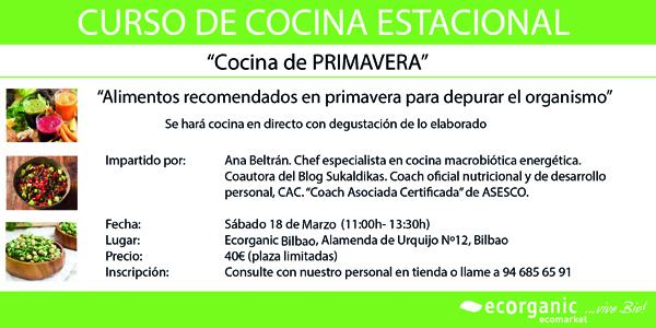 Curso de cocina estacional ecorganic - Cursos de cocina bilbao ...