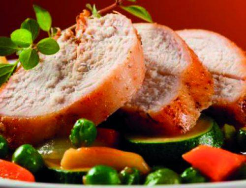 Pechuga de pavo con verduras