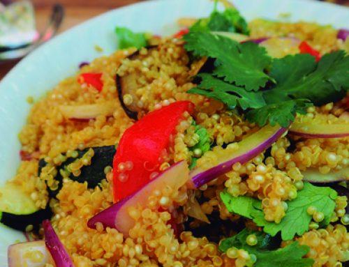 Quinoa salteada con verduras