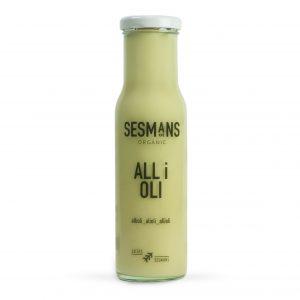 Salsa vegana y ecológica all i oli