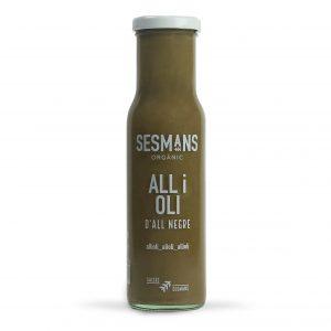 Salsa vegana y ecológica all i oli negro