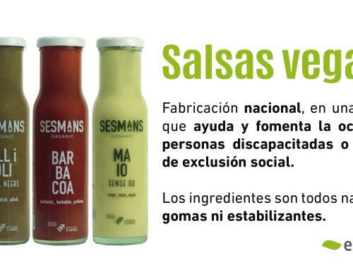 Salsas veganas y ecológicas (Sesmans)