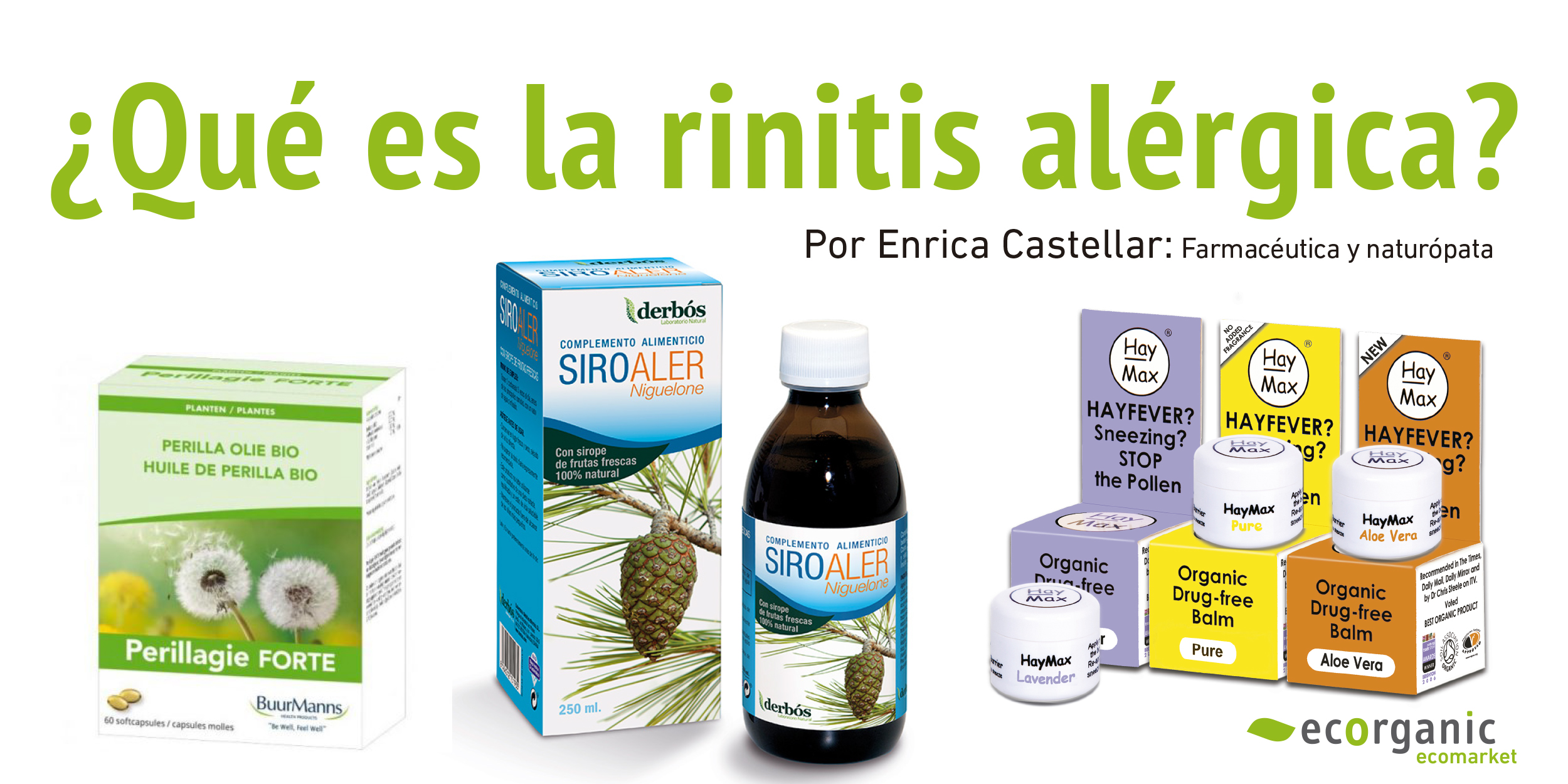 Qué Es La Rinitis Alérgica Ecorganic