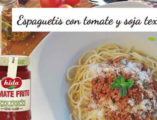 Espaguetis con boloñesa vegana